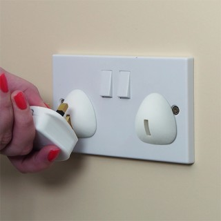 UK Plug Socket Covers (UK 3 Pin) (6 Pack)-0